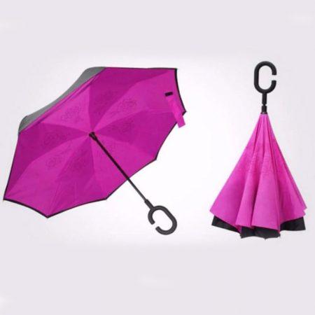 Payung Terbalik Warna PINK